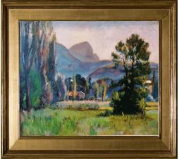 Joseph Victor Communal (1876-1962)   Chambéry le Vieux. Huile sur panneau. Dim: 46cm x 33cm