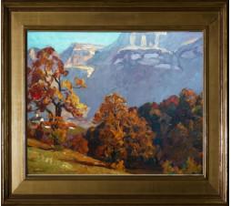 Joseph Victor Communal (1876-1962) Nivolet en automne. Huile sur panneau. Dim: 65cm x 46cm